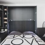 Omarna postelja z odprto omaro