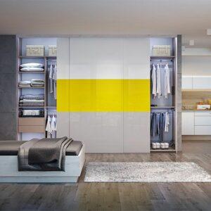Industrial stil dnevna soba z vgradno omaro