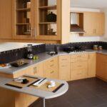 Kuhinja kombinacija lesa keramike