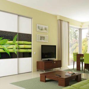 Moderna dnevna soba z vgradno omaro